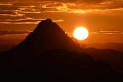 Oszałamiająco Sycylijski wschód słońca, Mazzarino, Caltanissetta, Włochy, Europa zdjęcia royalty free