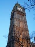 Oszałamiająco widok Big Ben, Londyn, od żaby perspektywy obraz royalty free