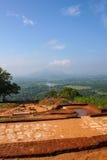Oszałamiająco widok las i góry od wierzchołka lwy Kołysamy Sig Obrazy Royalty Free