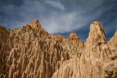 Oszałamiająco widok szczyty Katedralny wąwozu stanu park w Nevada Zdjęcia Royalty Free