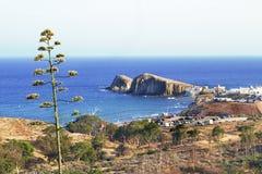Oszałamiająco wizerunek Isleta Del Moro w Almeria, Hiszpania fotografia stock