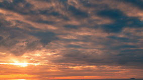 Oszałamiająco wschód słońca Nad morzem zdjęcie wideo
