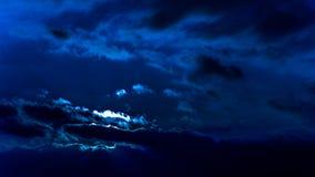 Oszałamiająco zima zmierzchu post unosi się chmury błękita filtr Obraz Royalty Free