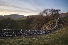 Oszałamiająco krajobraz chromu wzgórze i Parkhouse wzgórze w szczycie Dis Fotografia Stock