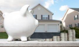 Oszczędzania pojęcie kupować dom zdjęcia royalty free