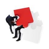 Oszczędzanie biznesmen od problemów obrazy stock