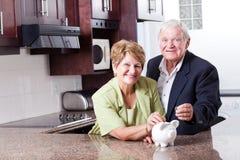 Oszczędzanie dla emerytura Zdjęcie Royalty Free
