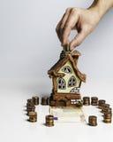 Oszczędzanie dla nieruchomości inwestyci Obraz Royalty Free