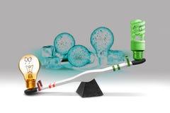 Oszczędzanie energii pojęcie Zdjęcia Stock
