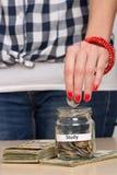 Oszczędzanie pieniądze dla edukaci Obraz Stock