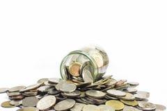 Oszczędzanie pieniądze i konta wzrostowy biznesowy pojęcie Menniczy tajlandzki baht Obraz Royalty Free