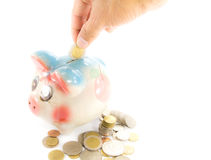 Oszczędzanie pieniądze odizolowywający Zdjęcia Stock