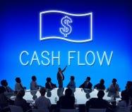 Oszczędzanie przepływu gotówki księgowości pieniądze ikony pojęcie zdjęcia stock