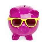 Oszczędzanie dla zabawa wakacje wakacje zdjęcia royalty free