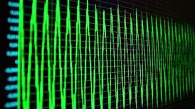 Oszillogramm auf PC-Schirm stock video footage