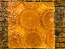 Oszklony Candied Pomarańczowy gąbka tort Obraz Royalty Free