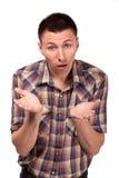 Oszołamiający mężczyzna w szkockiej kraty koszula Obraz Stock