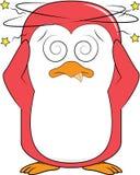 Oszołomiona pingwin maskotka Zdjęcia Stock