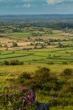 oszusta szczytowy Somerset widok Obrazy Royalty Free