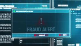 15 Oszustwa Raźny Ostrzegawczy powiadomienie na Cyfrowego alarm bezpieczeństwa na ekranie ilustracji
