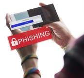 Oszustwo Sieka spama przekrętu Phising pojęcie obraz royalty free