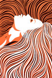otäck vektor för blond illustration arkivfoto