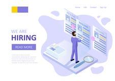 Hiring recruitment background. vector illustration