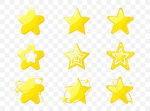 Star icons Vector illustration stock illustration