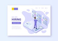 Hiring recruitment background. stock illustration