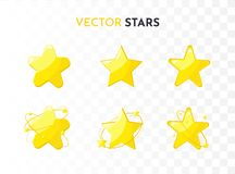 Star icons set. Vector royalty free illustration
