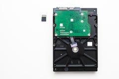 Дисковод жесткого диска ot HDD карточки SD следующий Стоковые Изображения RF