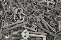 Ot Of Old Metal Keys As Background Royalty Free Stock Photos