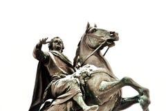 Ot Peter First, cavallerizzo bronzeo del monumento immagine stock