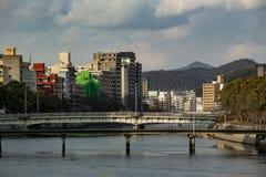 Ota Gawa rzeka Hiroszima Obrazy Stock
