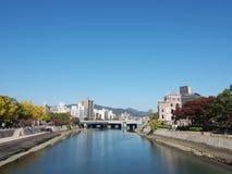 Ota rzeka i Bombowa kopuła w Hiroszima, Japonia Fotografia Royalty Free