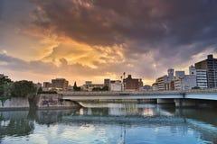 Ota rzeka w Hiroszima, Japonia Zdjęcia Stock