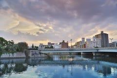 Ota rzeka w Hiroszima, Japonia Zdjęcie Stock