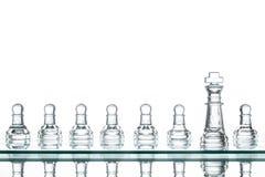 Otaczający królewiątko szachy, strategia biznesowa Zdjęcie Royalty Free