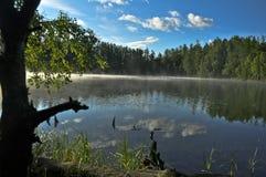 otaczająca lasowa jeziorna góra Zdjęcie Royalty Free