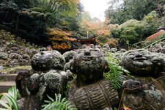 Otagi Nenbutsu籍寺庙,京都,日本 库存照片