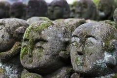 Статуи камня Otagi Nenbutsu-ji Стоковое Изображение RF