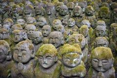 Otagi Nenbutsu-ji Rakan Statues stock photos