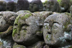 Otagi Nenbutsu-ji Stone Statues. Stone statues in the Otagi Nenbutsu-ji Buddhist temple  in the Arashiyama area of Kyoto, Japan. There are more than 1200 carved Royalty Free Stock Image