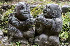 Otagi Nenbutsu-ji Stone Statues. Stone statues in the Otagi Nenbutsu-ji Buddhist temple  in the Arashiyama area of Kyoto, Japan. There are more than 1200 carved Royalty Free Stock Photo
