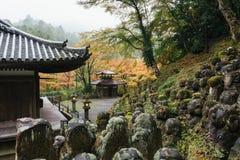 Otagi Nenbutsu-ji Temple, Kyoto, Japan. Kyoto, Japan - Nov 9, 2015: The Otagi Nenbutsu-ji Temple, Kyoto, Japan. Inside the temple are more than 1200 rakan Stock Photography