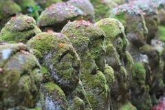 The stone of statues at rain day. The Otagi Nenbutsu ji Temple, Kyoto, Japan Stock Photography