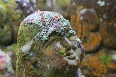 The stone of statues at rain day. The Otagi Nenbutsu ji Temple, Kyoto, Japan Stock Photo