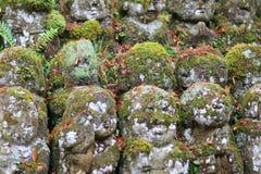 The stone statues representing disciples of Buddha. The Otagi Nenbutsu ji Temple, Kyoto, Japan Stock Photos