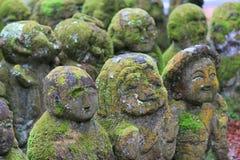A stone statues representing disciples of Buddha. The Otagi Nenbutsu ji Temple, Kyoto, Japan Stock Photography