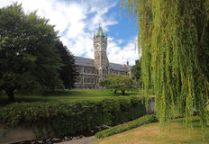 Otago大学维多利亚女王时代的clocktower  库存图片